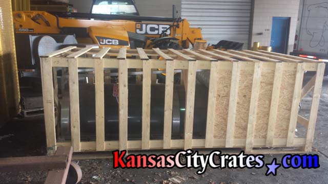 Bitimec Mobile Washer crated for shipping