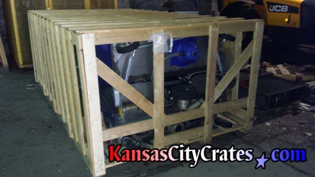 Finished crate before loading onto shipping pallet