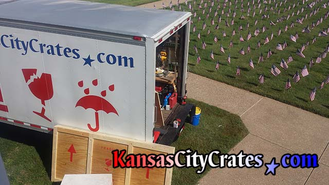 On-site crating truck sent to Fort Scott KS 66701 to crate museum display during renovations
