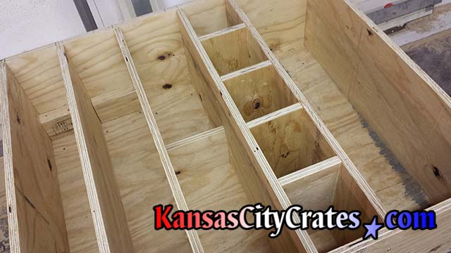 Highly detailed crate interior engineered to hold sensitive instruments