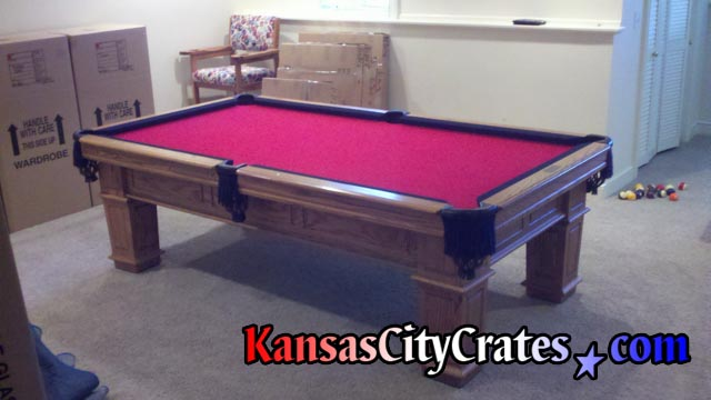 Kansas City Crates Crates For Billiard Table Slate - How to move a slate pool table