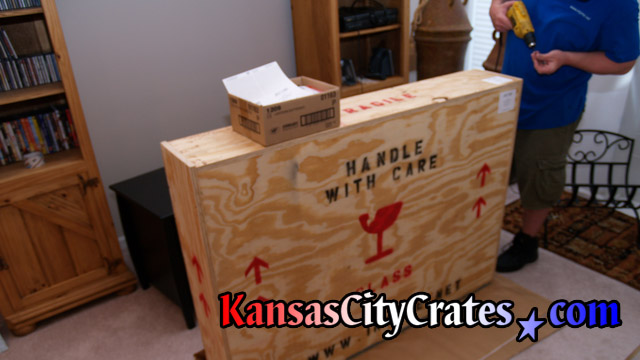 International crates can be opened for inspection by customs if needed.