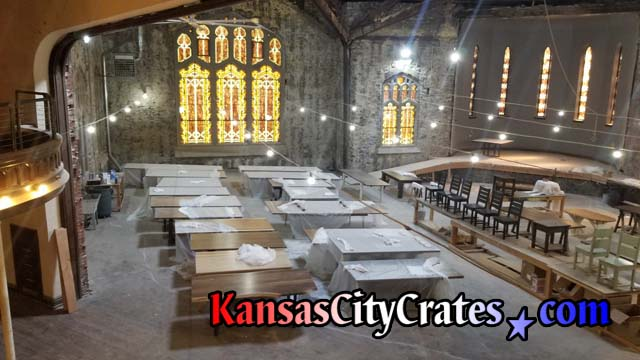 Kansas City Crates picks up Unruh Furniture Dining Room Table at their Kansas City Showroom