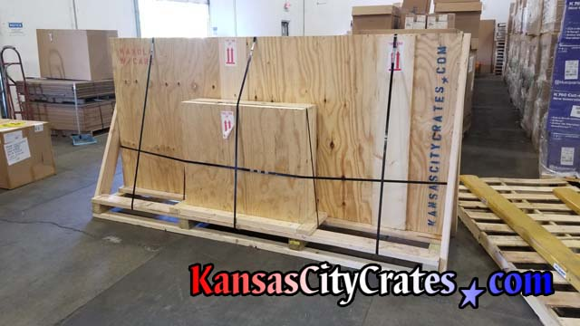 Table and legs are crated seperately and steel banded onto custom pallet with forklift access for LTL shipping