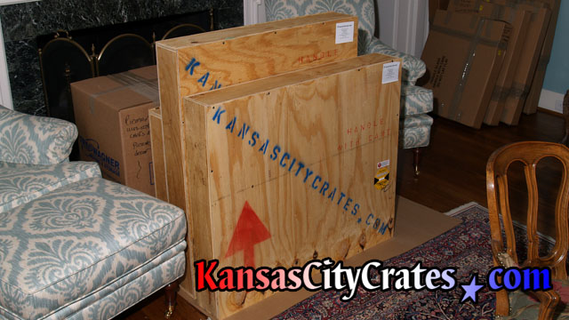 3 Vault like crates protect oil paintings during shipment.