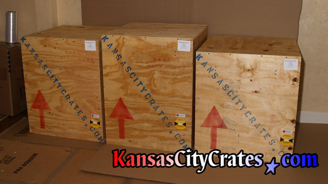 ISPM-15 certified plywood sheathed crates for shipping at home in Liberty MO  64069