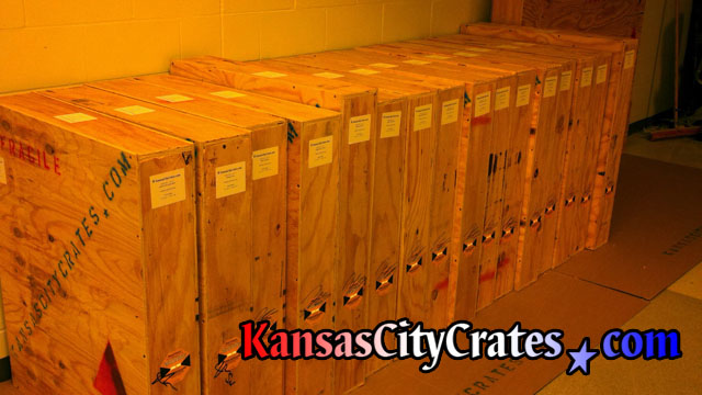 16 individual soild wall plywood crates containing oil paintings of the former Chairmans at Federal Government Office in Kansas City MO 64198
