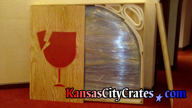 Packing large stained glass art from suite at Arrowhead Stadium in Kansas City MO 64129