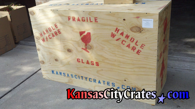 Antique furniture packed in wood crate for shipping at home in Liberty MO  64069