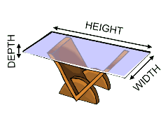 how to measure a glass table top