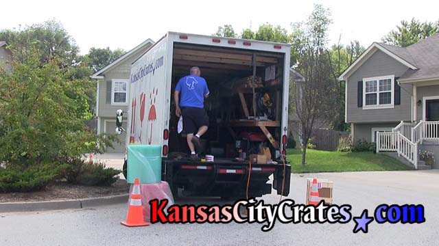 Crate builder assembles crate at home in Warrensburg MO  64093