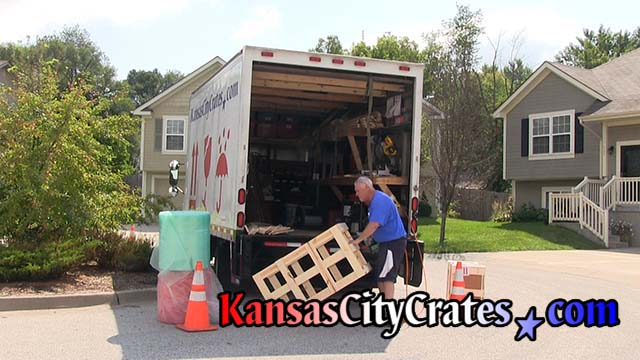 Assembling crate on site at home in Lewaood KS  66211