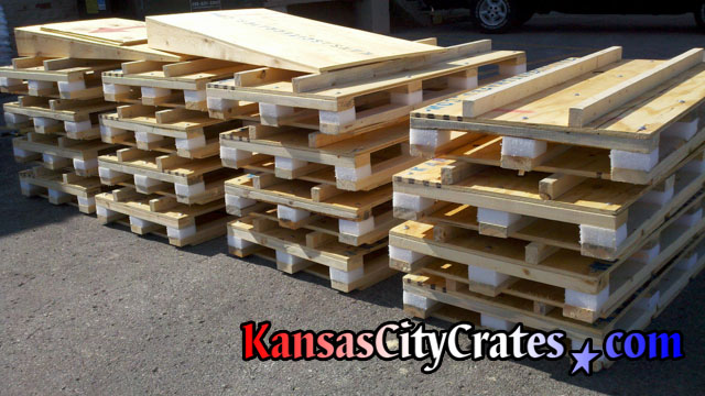 Picture of 35 shock resistant pallets for medical equipment
