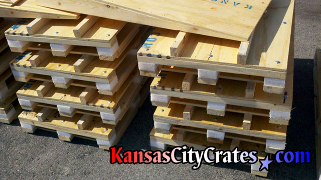Shock resistant pallets with custom loading ramps