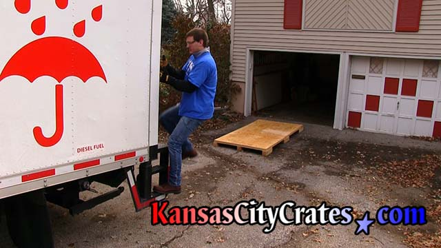 Preparing for assembly of Lift Van Type II storage vault at home in Kansas CIty KS 66112